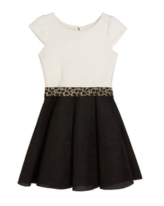 ZOE LTD Girls Colorblock Dress
