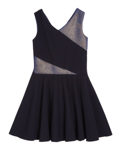 ZOE LTD Girls Sleeveless Sparkle Dress