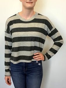 VERONICA M Girls Long Sleeve Striped Shirt