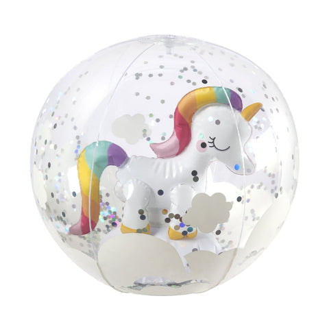 SUNNYLIFE 3D INFLATABLE BEACH BALL | UNICORN