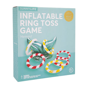 SUNNYLIFE INFLATABLE RING TOSS GAME | MERMAID