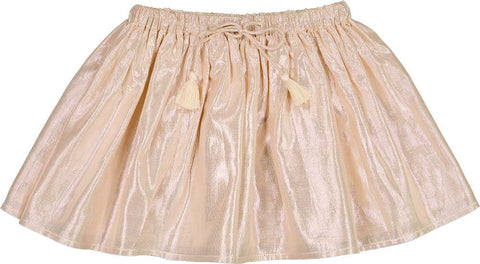 LOUIS LOUISE PINK SHIMMER FLARE SKIRT