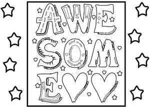 Sparkle Coloring Page 4