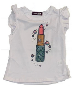 Sparkle by Stoopher Ruffle Tee, Mermaid Lipstick