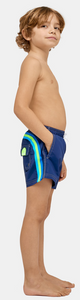 SUNDEK ELASTIC WAIST SWIM TRUNKS - Navy
