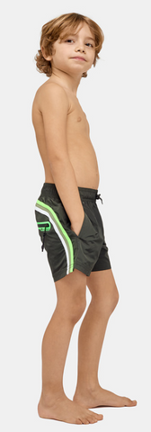SUNDEK ELASTIC WAIST SWIM TRUNKS - Pine