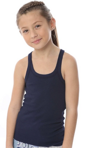 T2Love 2X1 RIB MODAL BEATER TANK TOP - NAVY