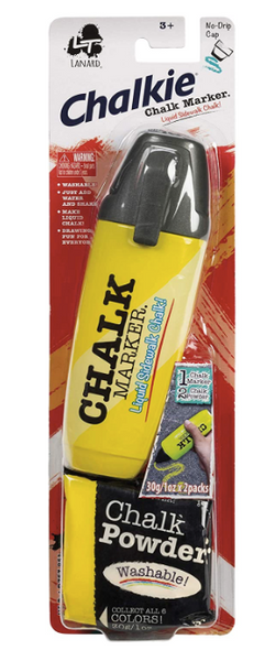 Chalkie Chalk Liquid Marker, Washable Assorted Colors