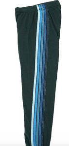 Aviator Nation - 5 STRIPE SWEATPANTS - CHARCOAL/BLUE