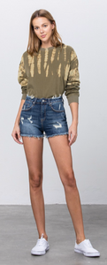Insane Gene - MID-RISE DISTRESSED SHORTS  - JUNIOR