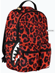SPRAYGROUND Red Leopard Backpack