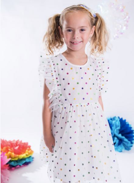 SPARKLE BY STOOPHER Dots Tulle Dress