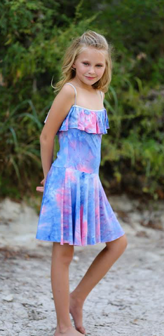Dolls and Divas Tie Dye Ruffle Dress