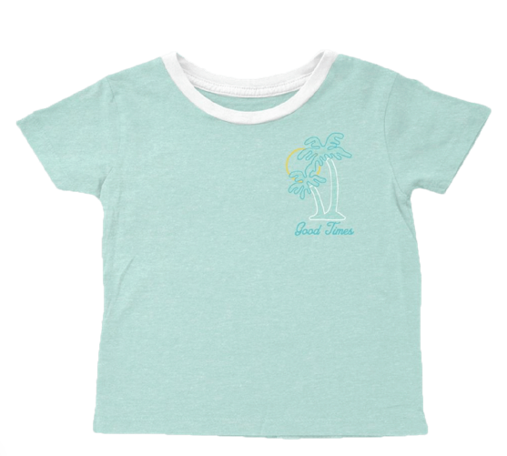 Tiny Whales Seafoam Good Times Girls Tee