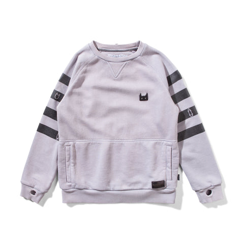 MUNSTER KIDS Sweatshirt with Striped Sleeves