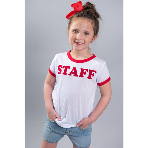 SPARKLE BY STOOPHER Staff Red Jersey Ringer Tee
