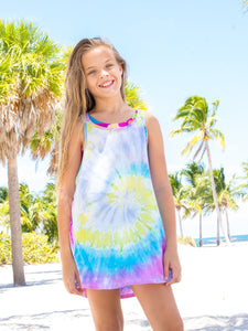 LIMEAPPLE MULTICOLOR TIE DYE SWIM COVER-UP