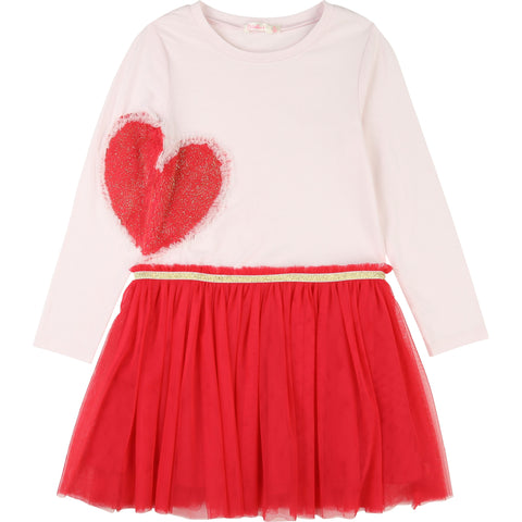 BILLIEBLUSH Girls Dress with Tulle Skirt