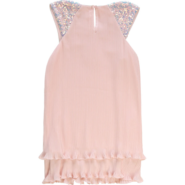 Billieblush Pink Pleated Organza Dress