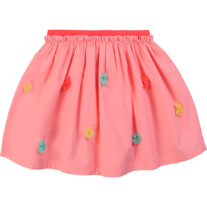 Billieblush Girls Pink Poplin Skirt