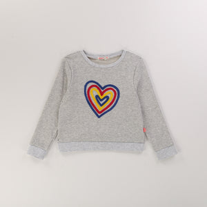 BILLIEBLUSH Girls Heart Sweatshirt