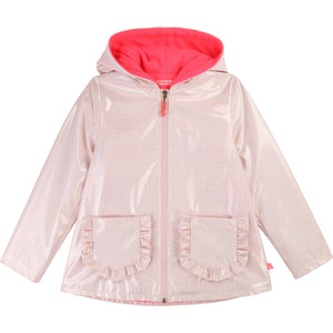 BILLIEBLUSH Iridescent Raincoat with Fleece Trim