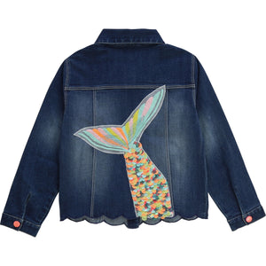 Billieblush Blue Mermaid Tail Denim Jacket
