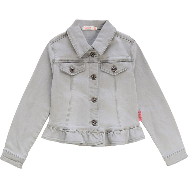 Billieblush Grey Denim Girls Jacket