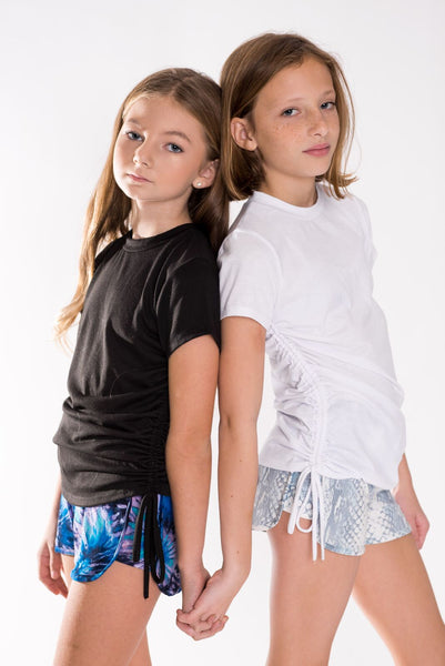 Tweenstyle Shorts, Blue Tie Dye