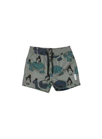 Huxbaby Turtle Print Swim Shorts