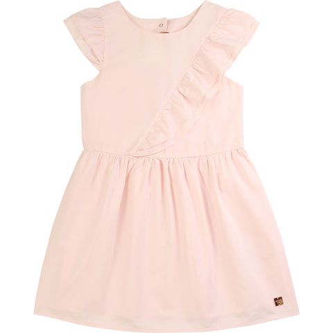 CARRÉMENT BEAU Girls Light Pink Jersey Dress