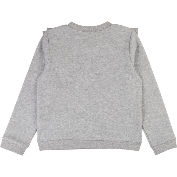 CARREMENT BEAU Girls French Terry Sweatshirt with Ruffle