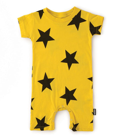 Star Print Playsuit - Yellow
