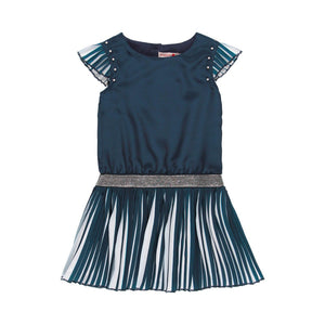 Boboli Navy Chiffon Dress