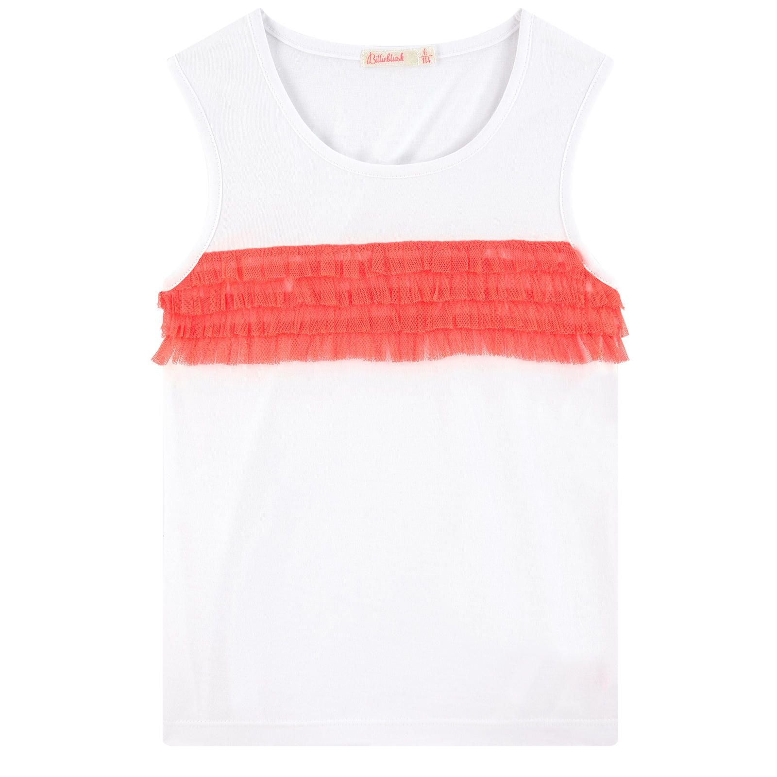 Billieblush White & Pink Cotton Tank Top