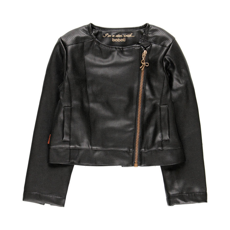 Boboli Faux Leather Jacket