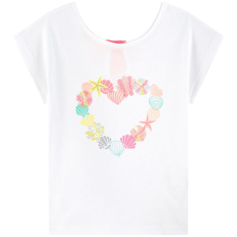 Billieblush White Cotton Shell T-Shirt
