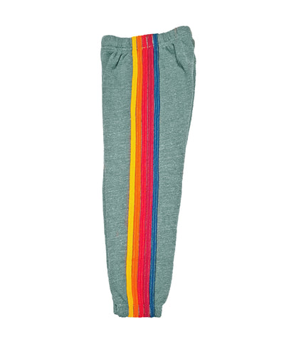 AVIATOR NATION KID'S 5 STRIPE SWEATPANTS - HEATHER GREY