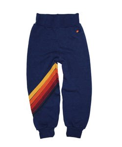AVIATOR NATION Blue Sweatpants w/ Stripe