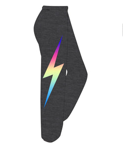 AVIATOR NATION Sweatpants with Lightning Bolt
