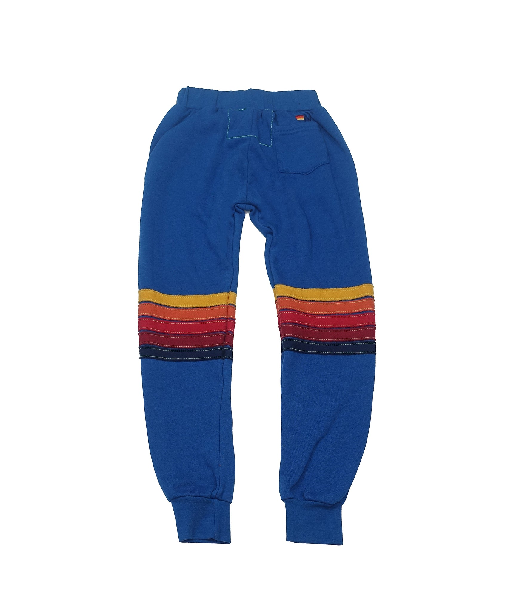 AVIATOR NATION KID'S MOTO STRIPE SWEATPANTS - CARIBBEAN // RED STRIPES