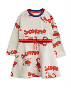 MINI RODINI Girls Long Sleeve Scorpio Dress