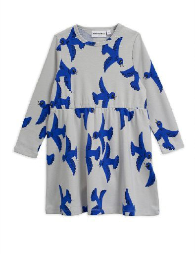MINI RODINI Girls Bird Print Dress