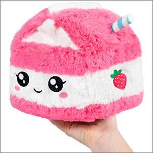 SQUISHABLE Mini Strawberry Milk Pillow