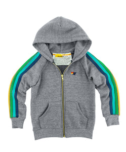 AVIATOR NATION Hooded Zip Sweatshirt with Stripes
