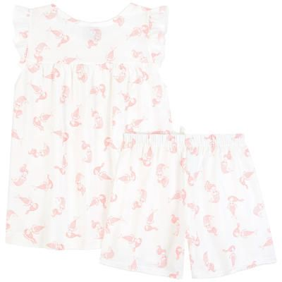 PETIT BATEAU Printed 2-piece pajamas - Mermaid