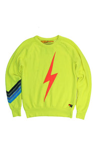 AVIATOR NATION BOLT STITCH CHEVRON SWEATSHIRT - NEON YELLOW