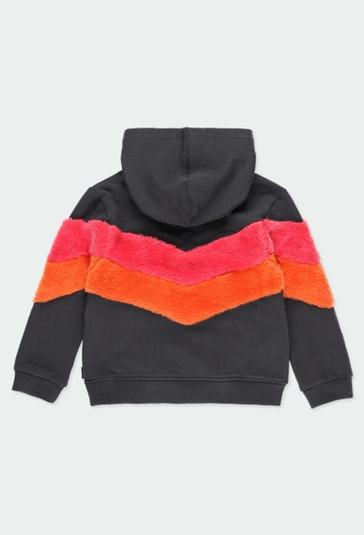 Boboli - Sweatshirt with Fuzzy Stripes