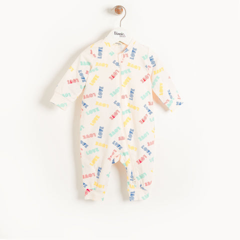 The Bonnie Mob Ivory Organic Cotton Playsuit - Love