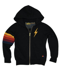 AVIATOR NATION Black Hoodie with Lightning Bolt